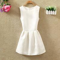 Платье женское жаккардовое белое