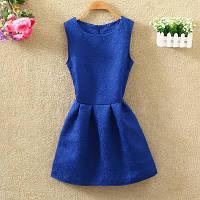 Платье женское жаккардовое синее