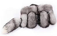 Cумка из хвостов меха польского песца(вуаль) высокого качества 30х25 см
