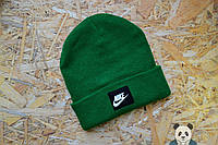 Модная шапка мужская найк,Nike зеленый