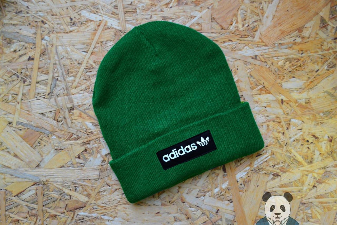 37fc65f9cfa6 Молодежная мужская шапка адидас,Adidas зеленая - Bigl.ua