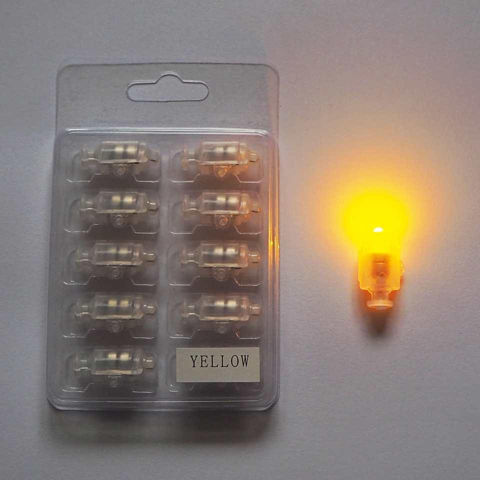 Светодиод для шаров SoFun с кнопкой желтый цена за 1 шт