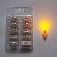 Светодиод для шаров SoFun с кнопкой желтый цена за 1 шт, фото 1