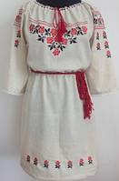 Женское вышитое платье Кристина размера  42,  44, 46, 48, 50, 52, 54, 56 из льна