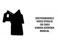 Коврики велюровые середина IVECO STRALIS от 2003 широкая  кабина manual