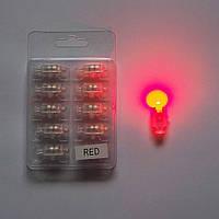 Светодиод красный с кнопкой для гелиевых шаров, фото 1