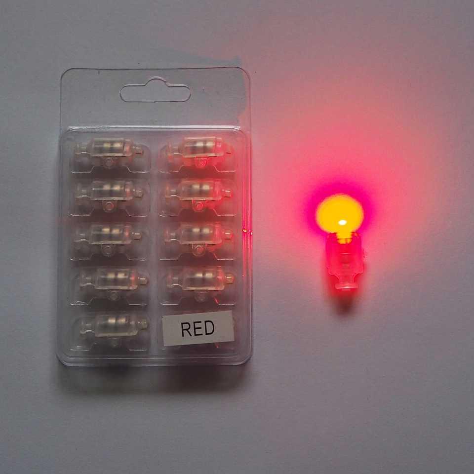 Светодиод красный с кнопкой для гелиевых шаров - SoFun - магазин товаров для праздника в Киеве