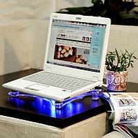 Подставка для ноутбука с 2 охлаждающими вентиляторами и подсветкой