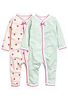 Детские человечки для девочки (2 шт)  4-6 месяцев, 2-3 года