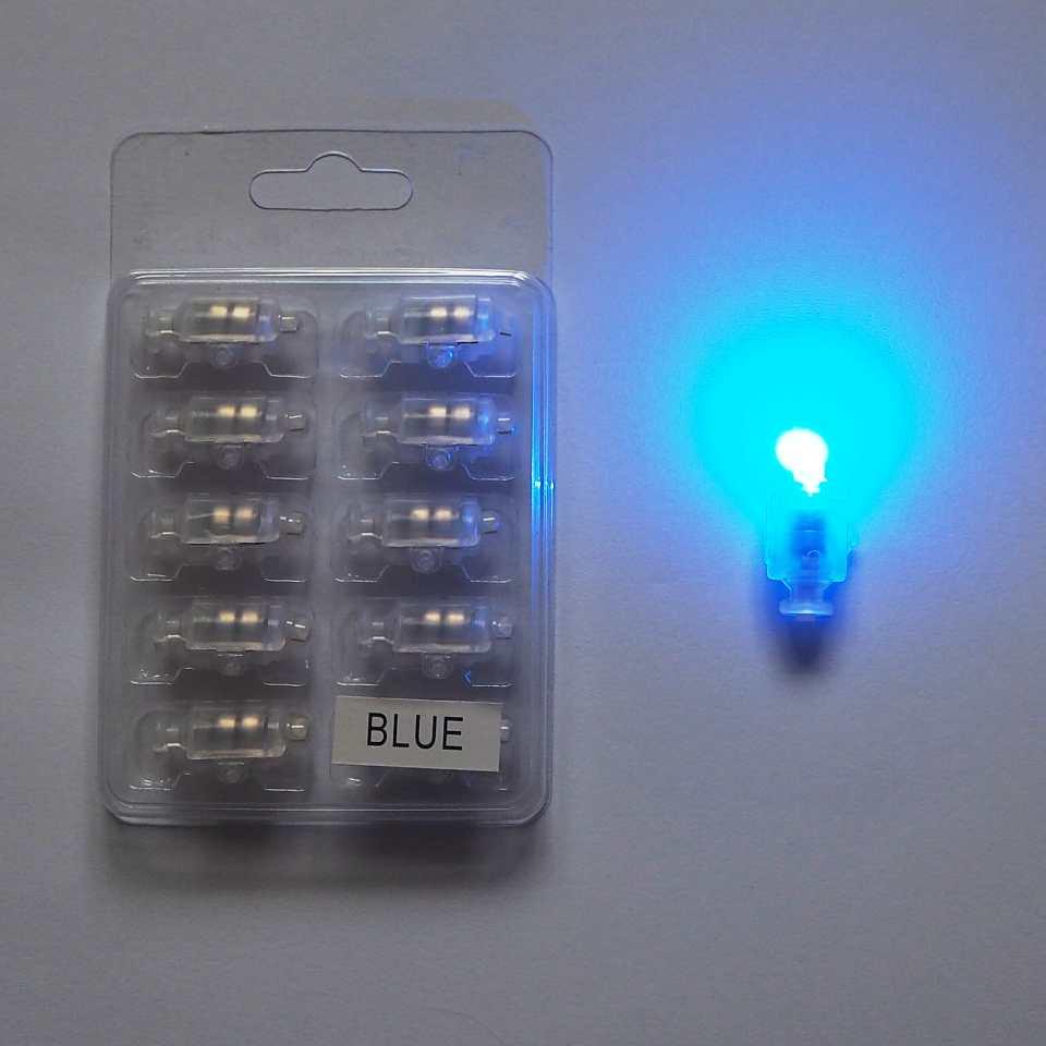 Светодиод для шаров SoFun с кнопкой синий цена за 1 шт