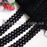 Резинка ажурная, 2 см, черная