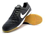 Футзалки (бампы) Nike Tiempo Genio IC Black/White, фото 1