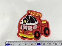 Детская нашивка Робокар пожарный Рой