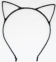 Основа для ободка (ободок-обруч) Кошачьи ушки уши Черный