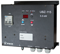 Универсальный блок защиты однофазных асинхронных электродвигателей УБЗ-115,Новатек Электро