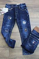 Утепленные джинсы на флисе для мальчиков  10 лет