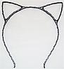 Основа для ободка (ободок-обруч) Кошачьи ушки уши Темное серебро 1 шт