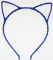 Основа для ободка (ободок-обруч) Кошачьи ушки уши Синий 1 шт