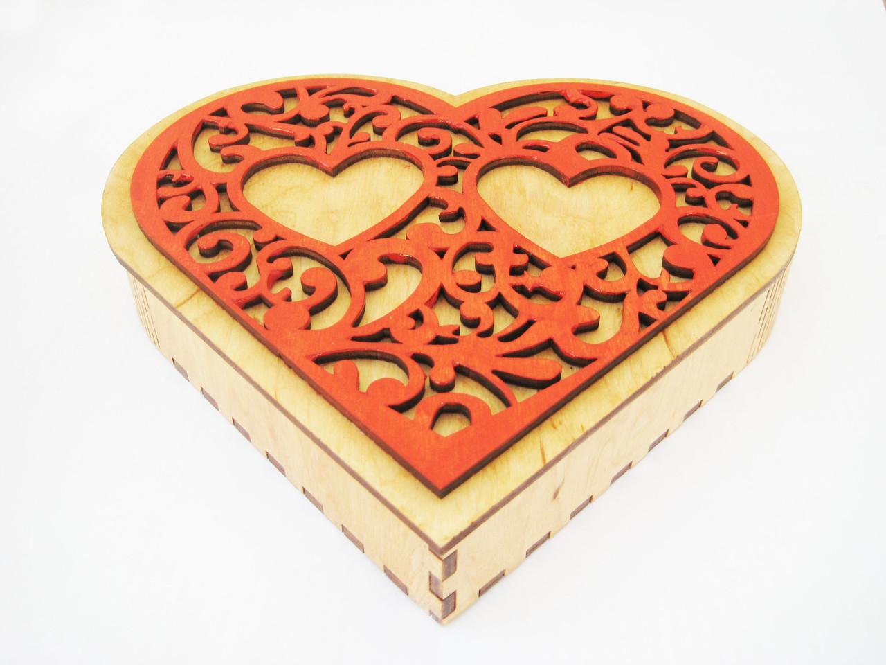 Шкатулка коробка Сердце
