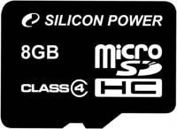 Карта памяти Silicon Power MicroSDHC 8GB Class 4 (card only)