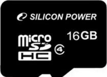Карта памяти Silicon Power MicroSDHC 16GB Class 4 (card only)