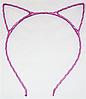 Основа для ободка (ободок-обруч) Кошачьи ушки уши Розовый 1 шт