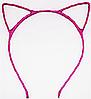 Основа для ободка (ободок-обруч) Кошачьи ушки уши Фуксия 1 шт