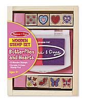 "Набор штампов ""Бабочки и Сердечки"", Melissa&Doug"