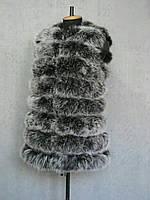 Жилетка женская из натурального меха песца