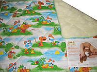 Одеяло в кроватку меховое ткань бязь 140х110 ОДА