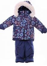 Детский зимний костюм на овчине-подстежке (от 6 до 18 месяцев) Синяя снежинка
