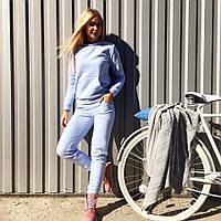 Нежно-голубой трикотажный спортивный / прогулочный костюм S