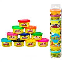 Игровой набор пластилина Play-doh 10 разноцветных баночек общим весом 283 грамма. Оригинал Hasbro