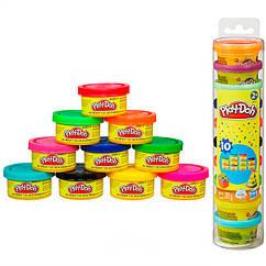 Игровой набор пластилина Play-doh 10 разноцветных баночек 283 грамма. Оригинал Hasbro 22037