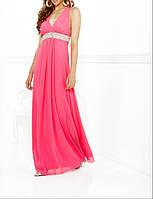 DL-507 Розовое Выпускное Платье Ампир Шифон