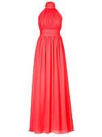 DL-516 Красное Бальное Платье Выпускное Сборка Халтер