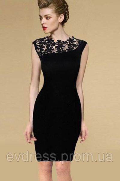 6bc0f1a1062 Коктейльное короткое платье кружевное из каталога маленькое черное платье  MD-21644