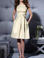 SH-10505-3 Красивое Белое Платье на Свадьбу с Розочками