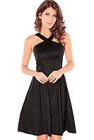 Платье Коктейльное Миди Расклешенное на Бретелях из каталога маленькое черное платье MD-2653-2