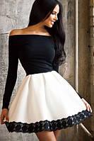 MK-22542 Платье короткое молодежное вечернее с юбкой-колокол