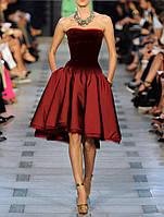 MK-524 Роскошное миди платье из атласа и парчи с юбкой клеш