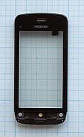 Тачскрин сенсорное стекло для Nokia C5-03/C5-04 with frame black