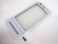 Тачскрин сенсорное стекло для Nokia C6 High Copy with frame white