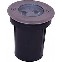 Светодиодный LED грунтовый 3 Вт водонепроницаемый, фото 1