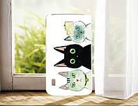 Чехол для LG Optimus L7 II Dual P715 панель накладка с рисунком Три Кота