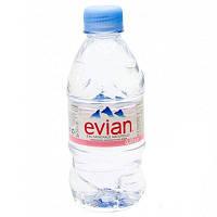 Эвиан - Evian минеральная вода, ПЕТ, 0.33 л, 24 бут. / ящик