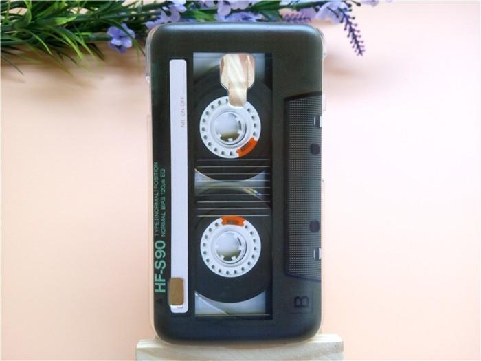 Чехол для LG Optimus L7 II Dual P715 панель накладка с рисунком кассета чёрная