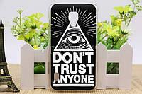 Чехол силиконовый бампер для LG Optimus L7 II Dual P715 с картинкой Don't trust anyone