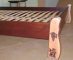 """Кровать """"Грета Вульф"""" (200*150), без изножья, с короной. Массив - ольха, покрытие - """"двухцветная тонировка"""" (лак + № 462)."""