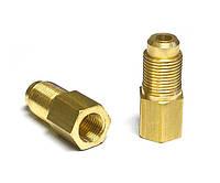 Переходник  (штуцер, фитинг, соединитель) прямой 8х6 для медных трубок, латунь